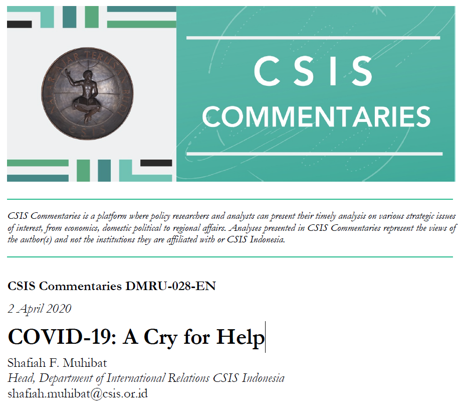 COVID-19: A Cry for Help